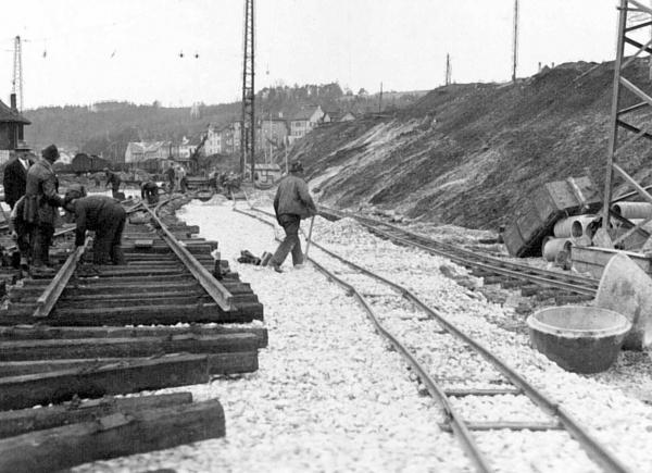 Historisches Bild - Gleisbau
